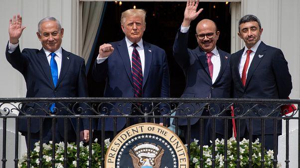 خلال توقيع الاتفاق في البيت الأبيض