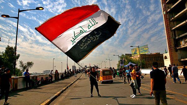 Irak, Bağdat'ta düzenlenen gösterilerden bir kare.