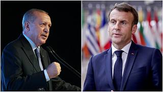الرئيسان الفرنسي إيمانويل ماكرون والتركي رجب طيب أردوغان