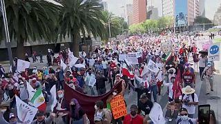 Marcha de seguidores de AMLO en Ciudad de México