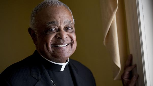 File photo: Washington DC Archbishop Wilton Gregory poses for a portrait following mass at St. Augustine Church in Washington. June 2, 2019.