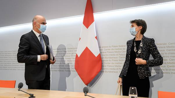 Bundespräsidentin Simonetta Sommaruga und Finanzminister Alain Berset