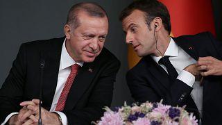 Cumhurbaşkanı Recep Tayyip Erdoğan ve Fransa Cumhurbaşkanı Emmanuel Macron