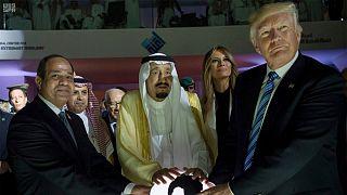ترامب والملك سلمان والرئيس السيسي