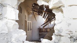 Квартира, разрушенная в результате артобстрела на прошлой неделе