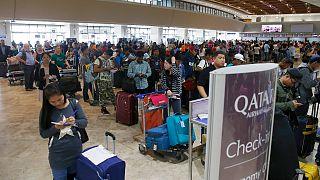 مسافرون في مطار حمد الدولي
