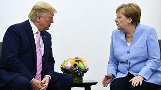 Trump und Merkel im Juni 2018
