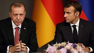 Türkiye Cumhurbaşkanı Erdoğan ve Fransa Cumhurbaşkanı Macron