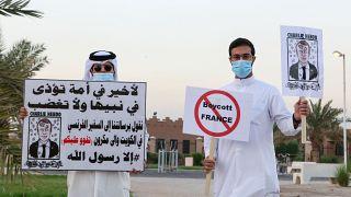 كويتيون يدعون إلى مقاطعة البضائع الفرنسية إثر تصريحات الرئيس مانويل ماكرون بشأن الإسلام
