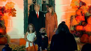 Kids dressed as Trump for White House Halloween