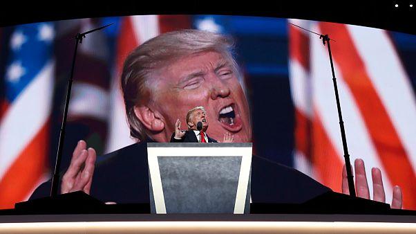 Donald Trump beszél 2016 júliusában a clevelandi republikánus konvención