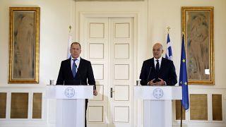 Rusya Dışişleri Bakanı Lavrov ile Yunan mevkidaşı Dendias görüşme sonrasında ortak basın açıklaması yaptı