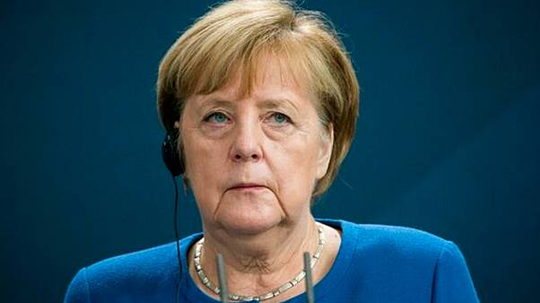 German Chancellor Angela Merkel speaks during a press conference at the Chancellery in Berlin last week