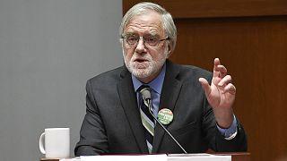 Howie Hawkins, le candidat écologiste à la présidentielle des Etats-Unis 2020, ici photographié à Albany dans l'Etat de New York, le 1er novembre 2018