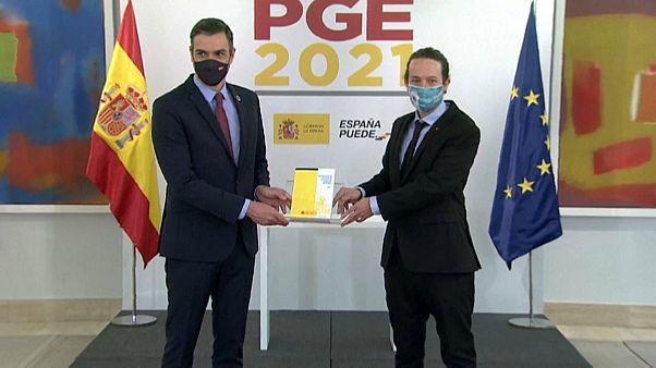 Pedro Sánchez y Pablo Iglesias presentan los Presupuestos Generales del Estado