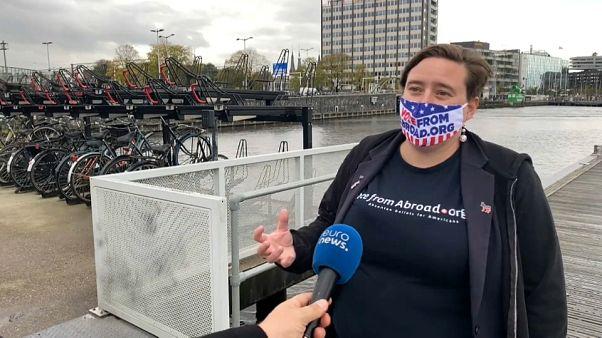 Kendra Borgen, responsabile del movimento dei Democratici all'estero