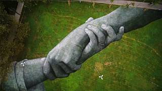 'Largest human chain in the world': Art installation by Saype