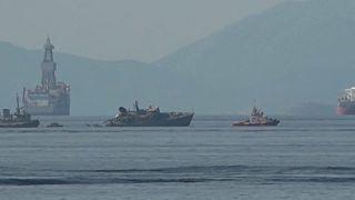 Kriegsschiff bei Kollision vor Piräus schwer beschädigt