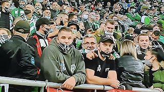 Sok szurkoló nem viselte a kötelezően előírt maszkot az FTC-Újpest labdarúgó mérkőzésen