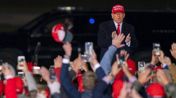 US-Präsident Donald Trump bei einer Wahlkampf-Veranstaltung in Janesville, Wisconsin, 17.10.2020