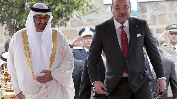 العاهل المغربي محمد السادس وولي عهد أبو ظبي محمد بن زايد