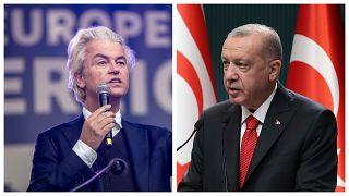 Geert Wilders és Recep Tayyip Erdogan