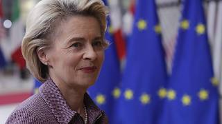 European Commission President Ursula von der Leyen in Brussels on October 15, 2020.