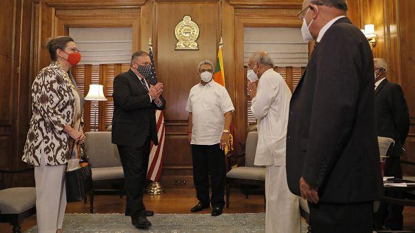 Il segretario di Stato americano con il suo omologo in Sri Lanka - 28 ottobre 2020