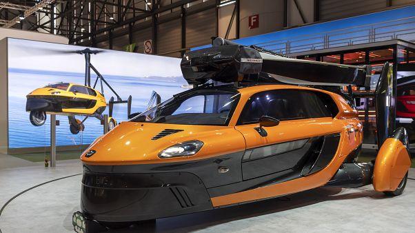 Το μοντέλο Liberty της PAL-V στο Σαλόνι Αυτοκινήτου της Γενεύης τον Μάρτιο 2019.