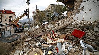 Нагорный Карабах: обстрел Барды и жизнь в подвалах