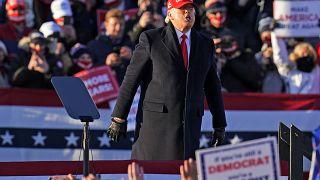 Donald Trump lors d'un meeting de campagne à Avocat, Pennsylvanie, le 2 novembre 2020, États-Unis