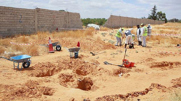 گورهای دسته جمعی در ترهونه لیبی