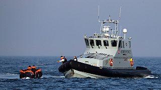 نجات قایق پناهجویان در کانال مانش