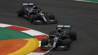 خلال سباق الجائزة الكبرى البرتغالي للفورمولا 1 في بورتيماو، البرتغال.