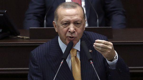 El presidente Erdogan este miércoles ante el Parlamento