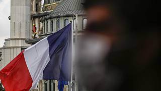 French flag flies on the premises of France's consulate in Istanbul