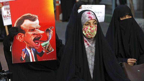 Protestos contra Emmanuel Macron em vários países muçulmanos