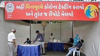 حصيلة إصابات كوفيد-19  تتخطى 8 ملايين في الهند