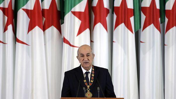Le président algérien Abdelmadjid Tebboune le 19 décembre 2019 à Alger.