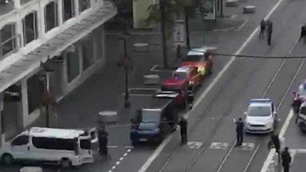 A street near the scene of a suspected terror attack in Nice, southern France, Ocober 29, 2020.