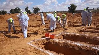 Libya digs up mass grave found in area previously held by Haftar forces