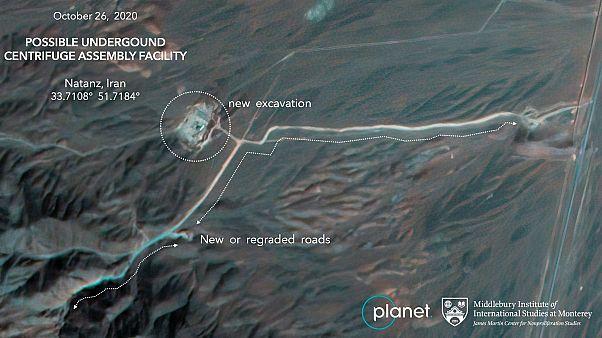 A Natanzról készült műholdas fotó a létesítmény bővítéséről tanúskodik