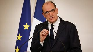French Prime Minister Jean Castex delivers a speech during a press conference, in Paris, Thursday Oct. 22, 2020.