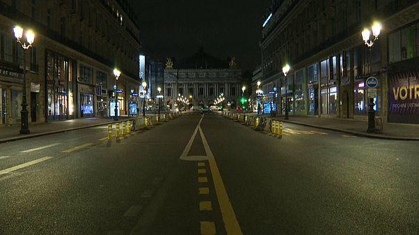 París, desierto, después de comenzar el nuevo confinamiento