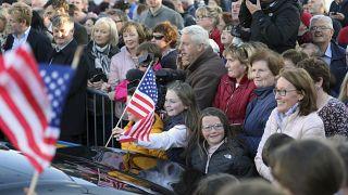 A Doonbeg (Irlande), à l'occasion de la venue de deux fils de Donald Trump, le 05/06/2019