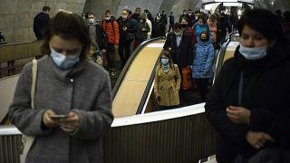 Пассажиры московского метро