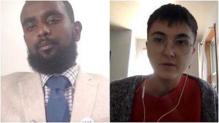 """بيزا بوركاك: متطوعة في حملة """"صوتي المسلم"""" و محمد أبو كار: ناخب من ولاية ميشيغان الأمريكية"""