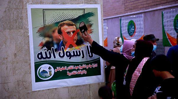 اعتراض مسلمانان به ماکرون در عراق