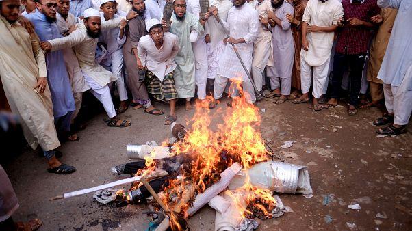 Manifestation à Dacca, Bangladesh, 30 octobre 2020.