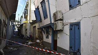 Ζημιές μετά τον σεισμό στη Σάμο